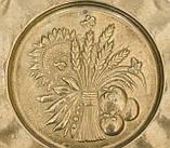 Винтажная настенная бронзовая тарелочка, бронза, Германия, 14,5 см, фото 6