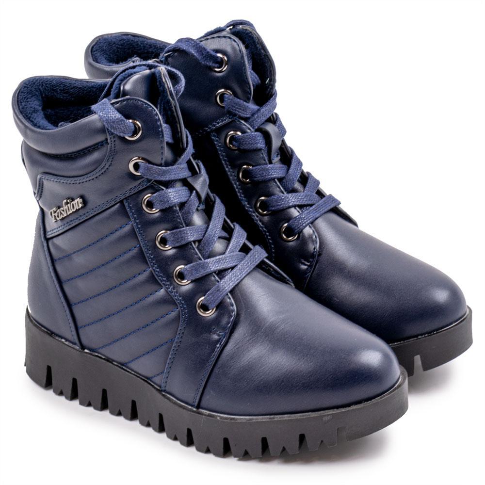 """Ботинки зимние для девочек """"Башили"""" 32  синий H8811"""