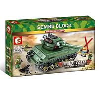 Конструктор Sembo Block Армия Военный Танк Sherman M4 437 деталей, фото 1