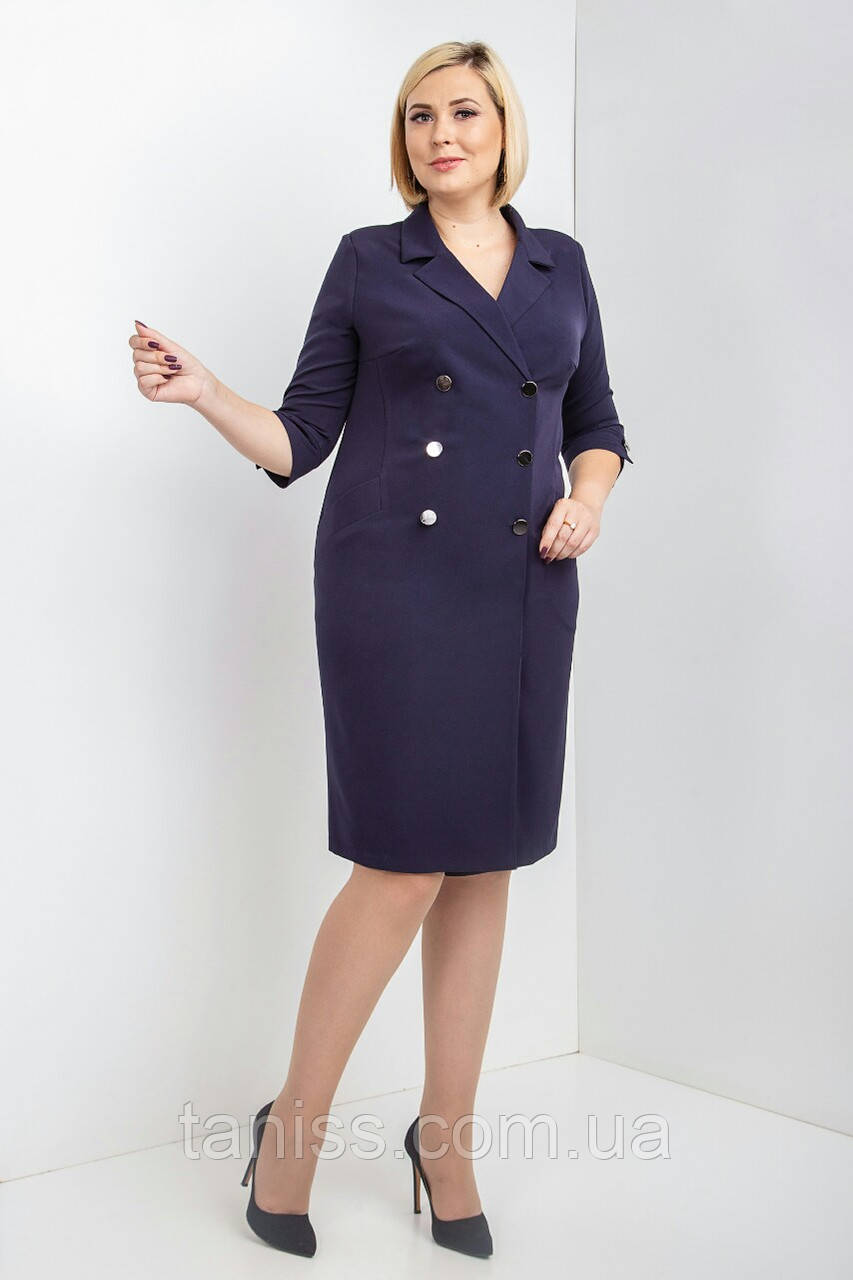 """Стильне, жіноче, офісне плаття """"Шейла"""", тканина костюмна,розміри 50,52,54 темно-синій,сукня"""
