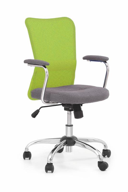 Кресло компьютерное ANDY серый/зеленый (Halmar)