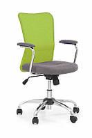 Кресло компьютерное ANDY серый/зеленый (Halmar), фото 1