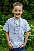 Р-р 92-152, футболка трикотажная для мальчика вышиванка, Вишиванка хлопчача