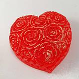 Мило серце Дня Святого Валентина і на 8-е березня Мило ручної роботи, фото 4