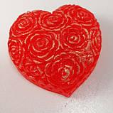 Мило серце Дня Святого Валентина і на 8-е березня Мило ручної роботи, фото 3