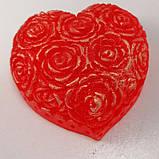 Мило серце Дня Святого Валентина і на 8-е березня Мило ручної роботи, фото 2
