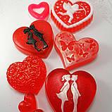 Мило серце Дня Святого Валентина і на 8-е березня Мило ручної роботи, фото 6