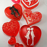 Мило серце Дня Святого Валентина і на 8-е березня Мило ручної роботи, фото 5
