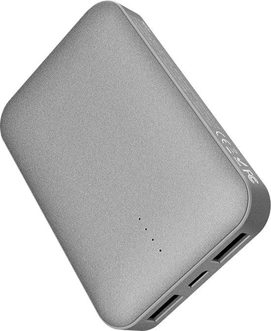 Повербанк ROCK P51 Mini Power Bank 10000mAh Grey (6971680471258)