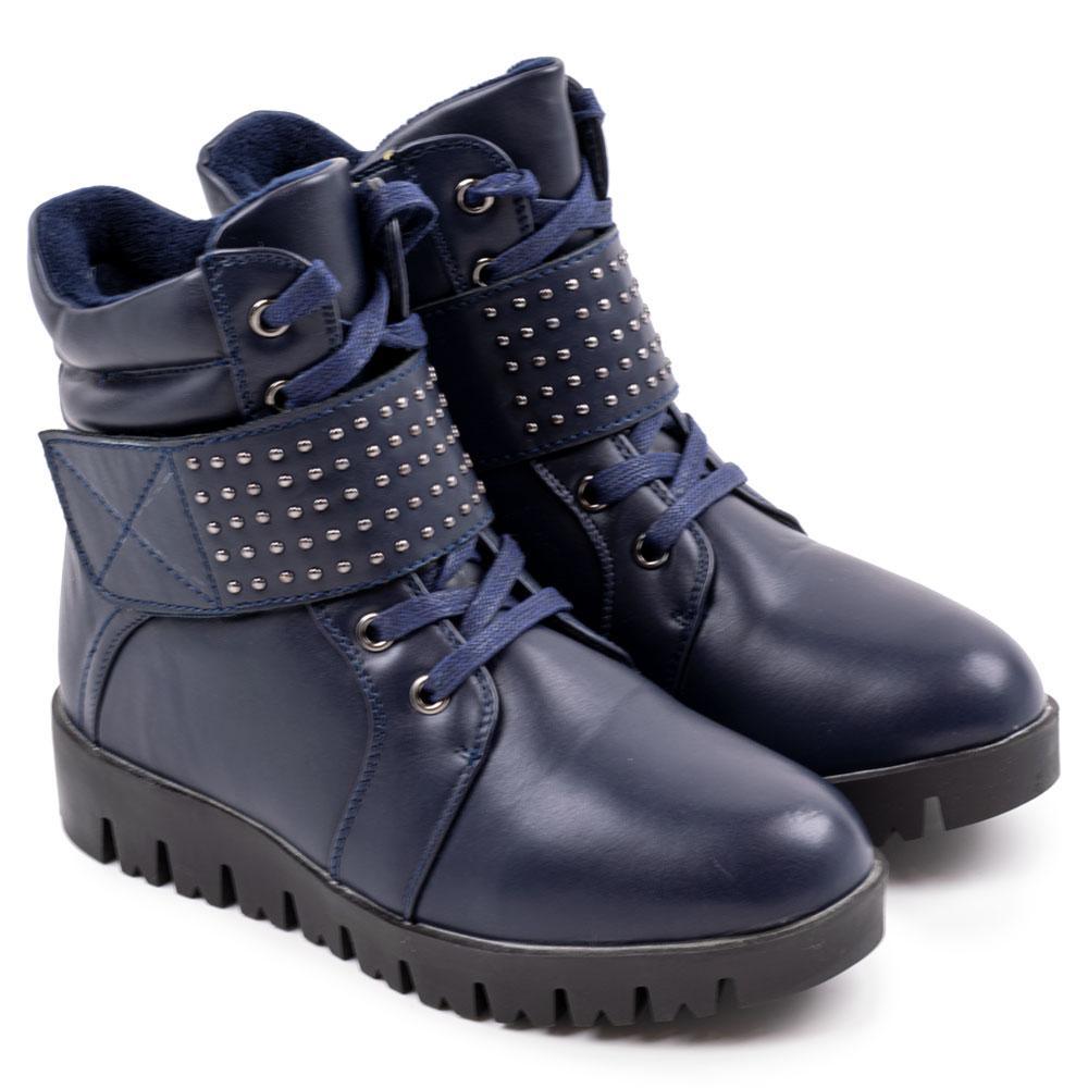 """Ботинки зимние для девочек """"Башили"""" 32  синий H8812"""