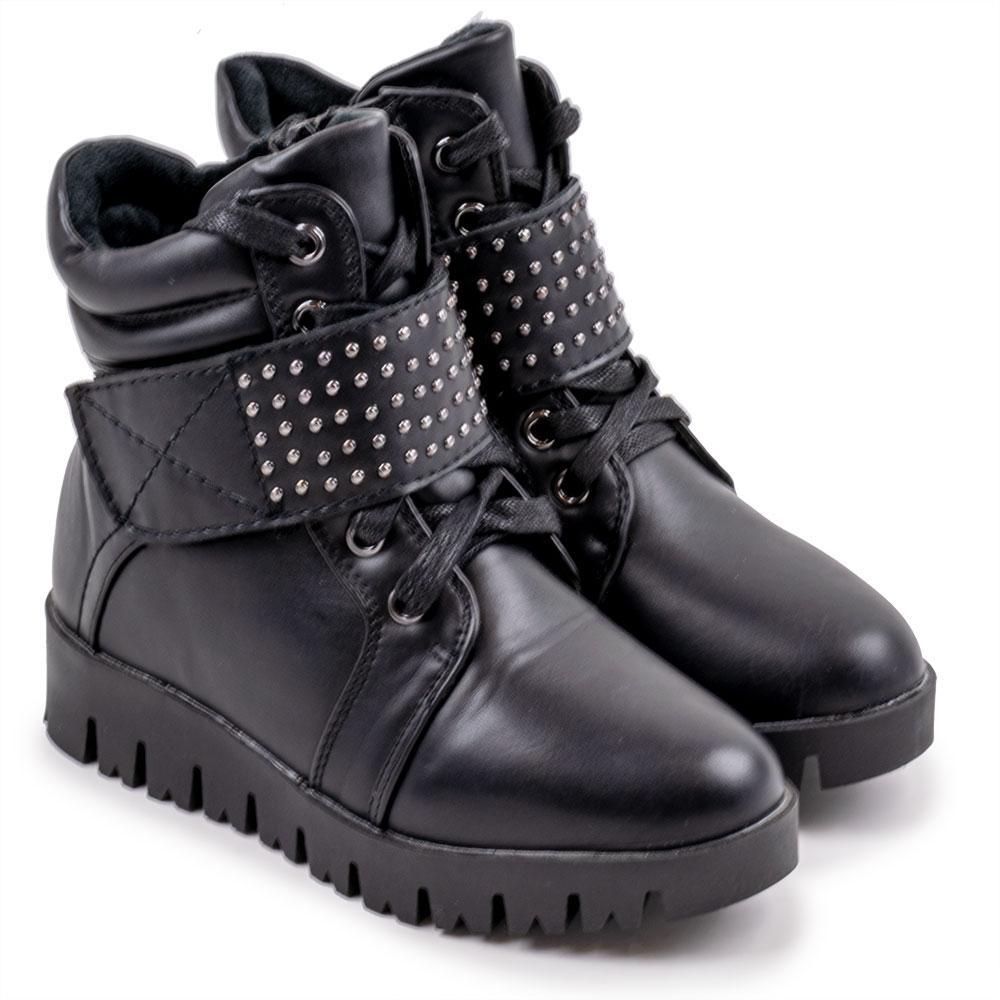 """Ботинки зимние для девочек """"Башили"""" 32  чёрный H8812"""