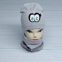 М 4536. Комплект для девочек шапка одинарная и баф  Vivatricko, 3-8 лет, разные цвета, фото 1