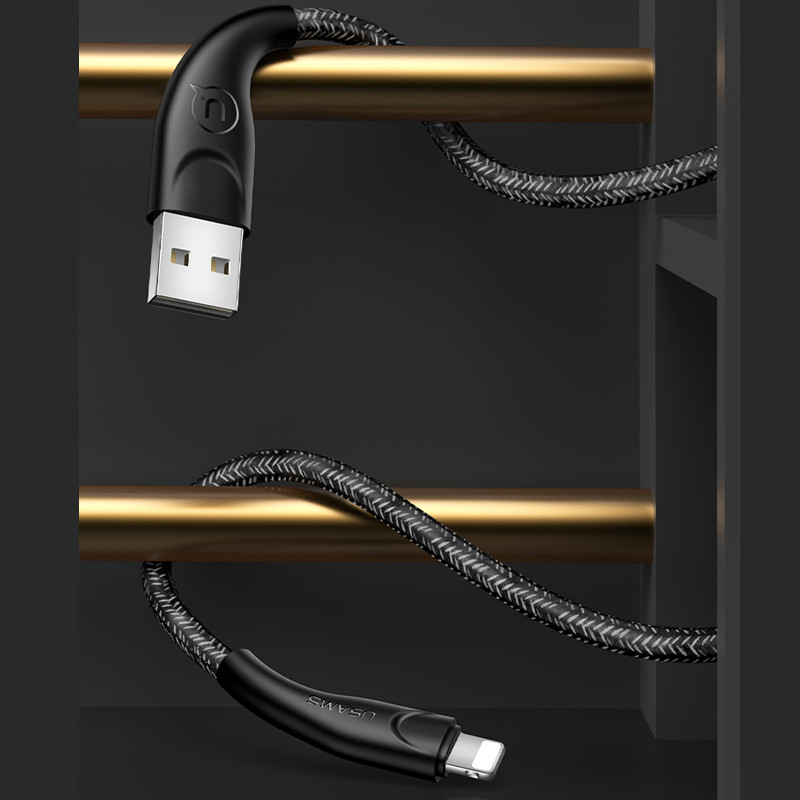 Usams US-SJ391 U41 Lightning Braided Data and Charging Cable 1m