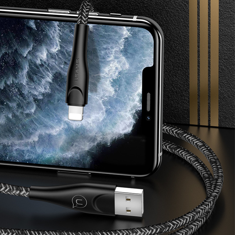 Дата кабель Usams US-SJ391 U41 Lightning Braided Data and Charging Cable 1m