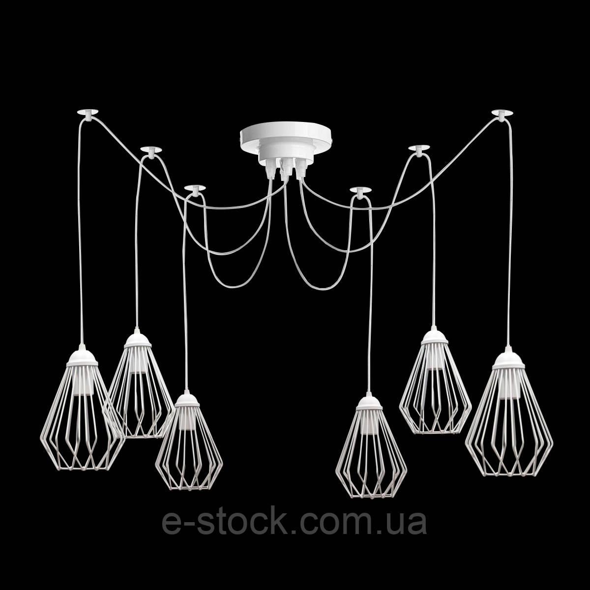 Люстра паук на восемь плафонов NL 05371-8 W  MSK Electric