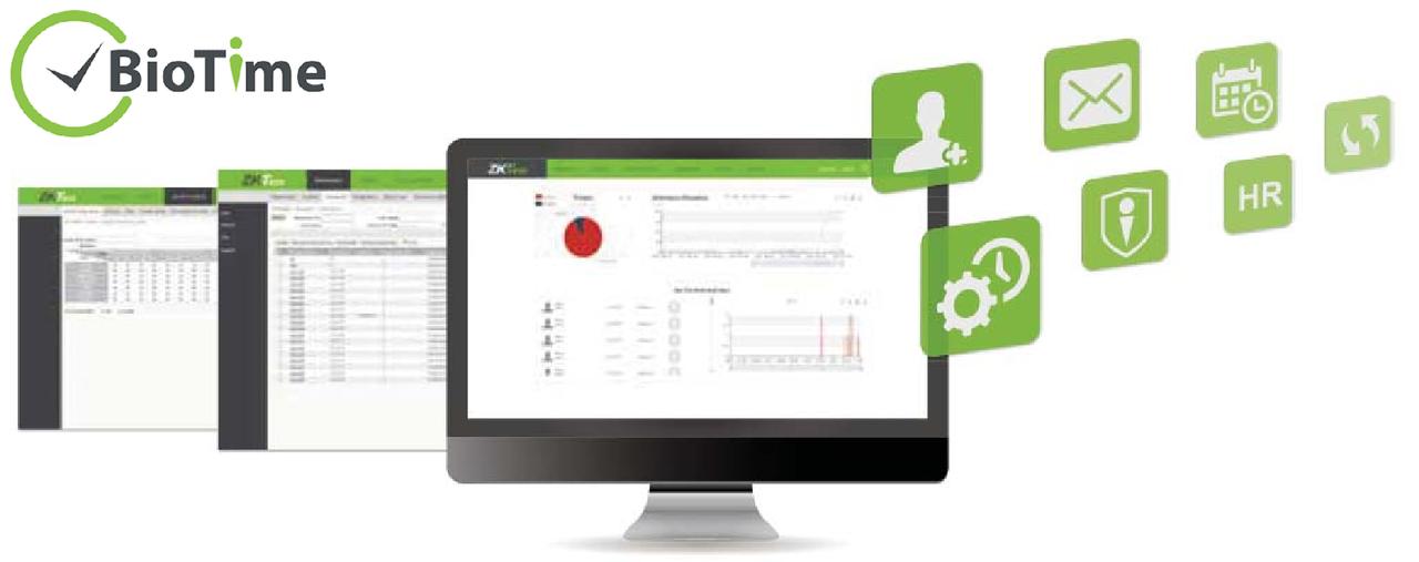 Веб приложение учета рабочего времени ZKTeco BioTime