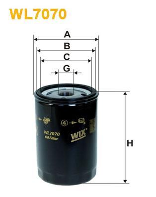 Фильтр масляный WIXFILTRON WL7070