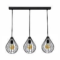 Светильник подвесной в стиле лофт на три лампы  Капля  NL 2229-3 MSK Electric