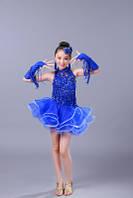 Платье для бальных танцев с бахромой на перчатках