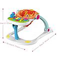 Игровой центр Ходунки-каталка Baby WALKER музыкальный, 4 предмета в одном наборе, ходунки валкер, фото 9