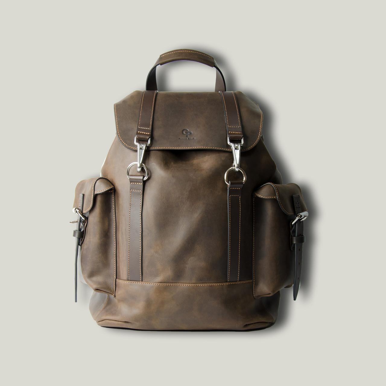 Рюкзак кожаный  Viaggio, коричневый матовый