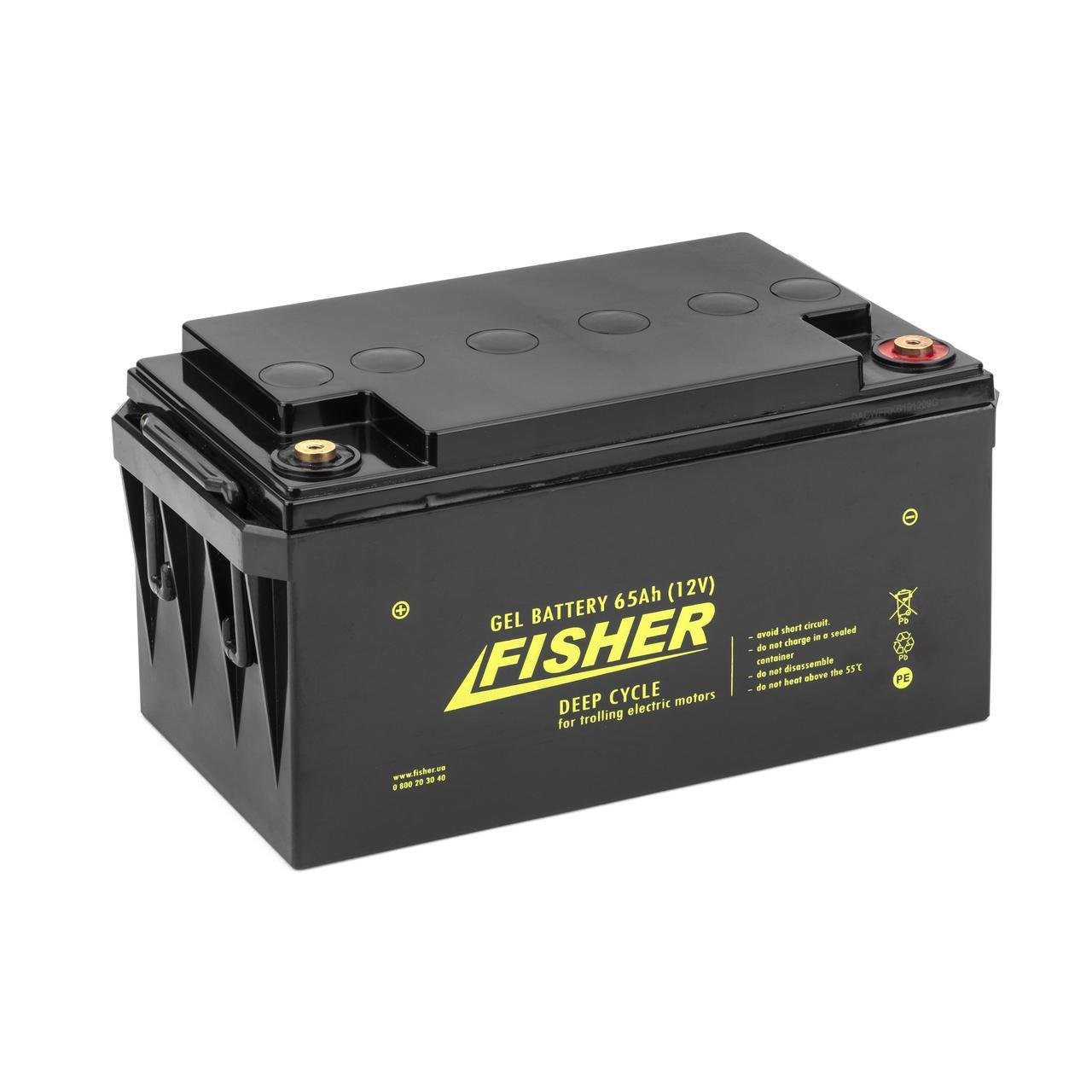 Гелевый аккумулятор для электромотора Fisher 65Ah