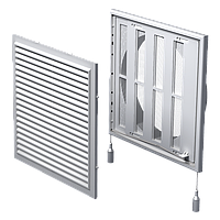 Решетка вентиляционная с жалюзи  МВ 250/200 ВРс