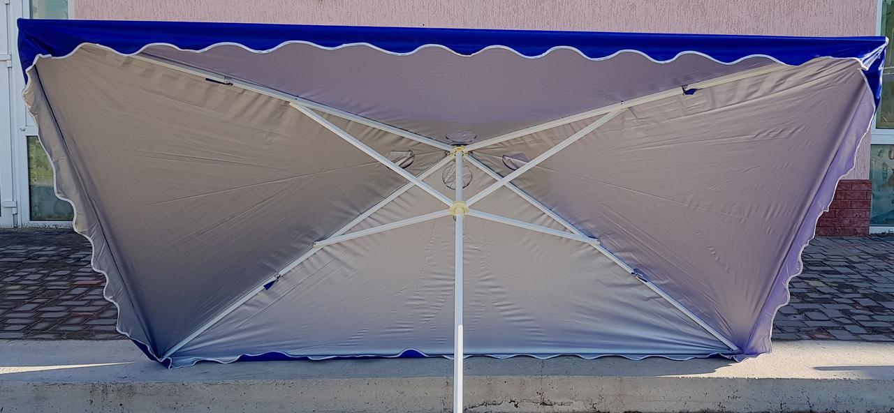 Зонт садовый, торговый, прямоугольный, с клапаном и напылением, 2 х 3, мод-001W, синий