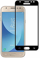Защитное стекло Lion для Samsung Galaxy J3 2017 (J330) 3D Perfect Protection Full Glue, Black
