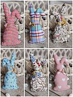 Кролик декоративний для віночка, для корзини, ручної роботи, текстильний, 14-16см., 45/39 (цена за 1 шт.+6гр.), фото 1