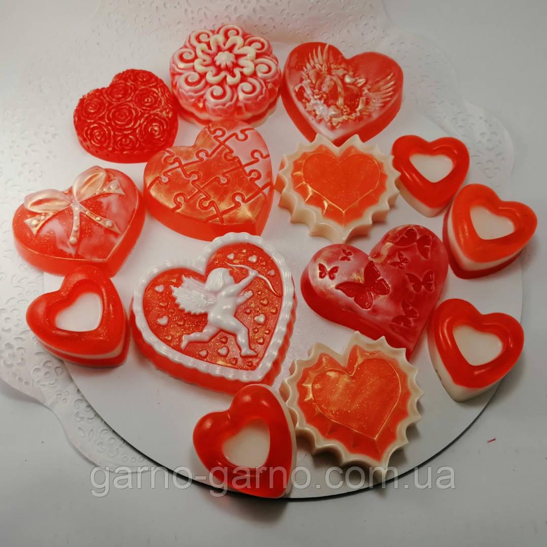Создайте свой Подарочный набор ко Дню Святого Валентина или 8-е марта Мыло ручной работы в пакете с лентой