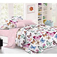 Двуспальное постельное белье Бязь Gold - Вальс бабочек