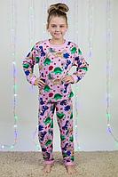 Детская пижама для девочек (100% хлопок), фото 1