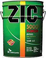 Полусинтетическое моторное масло ZIC(Зик) 5000 POWER 15W-40 20л.