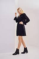 Черное шифиновое платье-мини для вечеринок XS,S,M