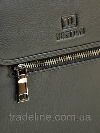 Сумка Мужская Планшет кожаный BRETTON BE 9027-5 black, фото 2