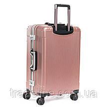 Дорожная Чемодан 2/1 ABS-пластик 04 pink замок, фото 2