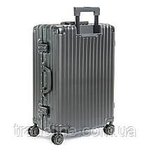 Дорожная Чемодан 2/1 ABS-пластик 06 dark-grey замок, фото 2