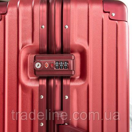 Дорожная Чемодан 2/1 ABS-пластик 06 wine-red замок, фото 2