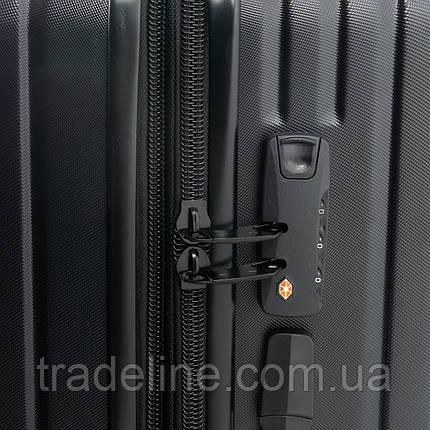 Дорожная Чемодан 2/1 ABS-пластик 8340 black змейка, фото 2