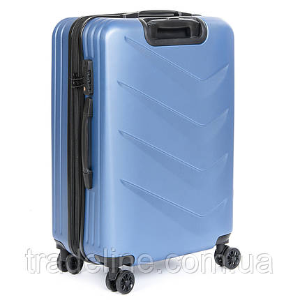 Дорожная Чемодан 2/1 ABS-пластик 8340 blue змейка, фото 2