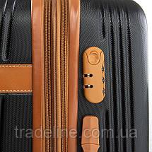 Дорожная Чемодан 2/1 ABS-пластик 8387 black змейка, фото 3