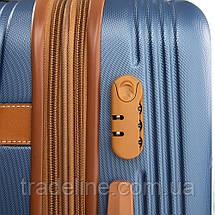 Дорожная Чемодан 2/1 ABS-пластик 8387 blue змейка, фото 3