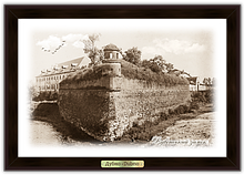 Эко-картина.  Дубно. Дубенський замок. Вежа Беатка