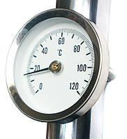 Термометр биметаллический накладной Watts F+R810  63/120  код: 0308060