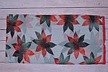 Воздушный шарф снуд в цветы красный, фото 4