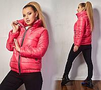 Жіноча батальна стегана куртка на весну , 5 кольорівР-ри 48-58