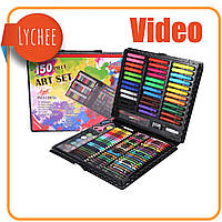 Набор для рисования 150 предметов (видеообзор) в чемоданчике (уценён)