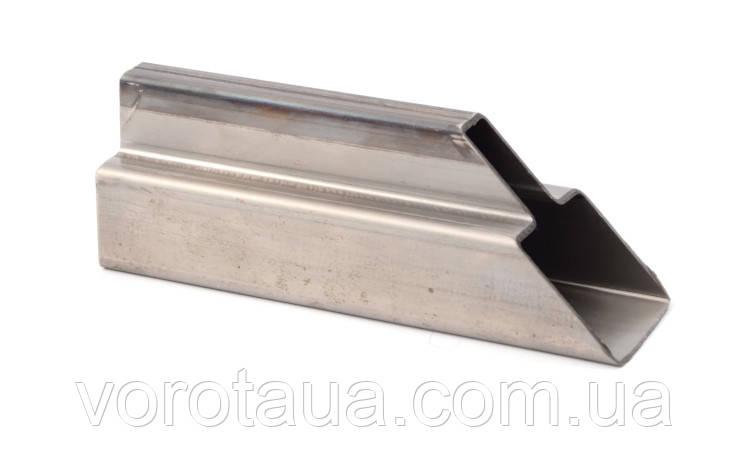 Т-образный профиль для изготовления ворот (аналог труб 60х40+30х20)