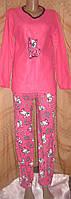 Теплый женский флисовый костюм для дома и отдыха